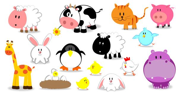 Icônes d'animaux mignons