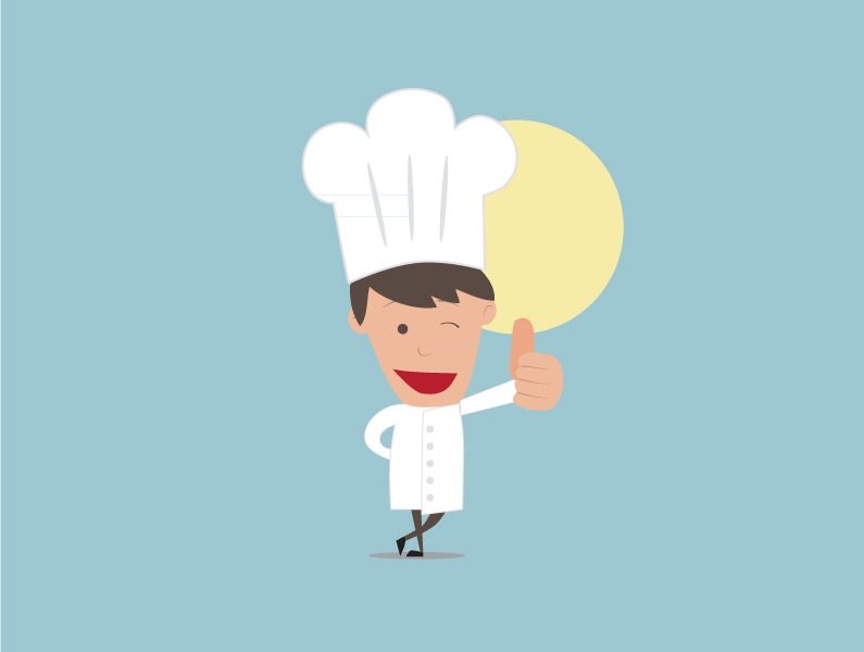 Chef souriant