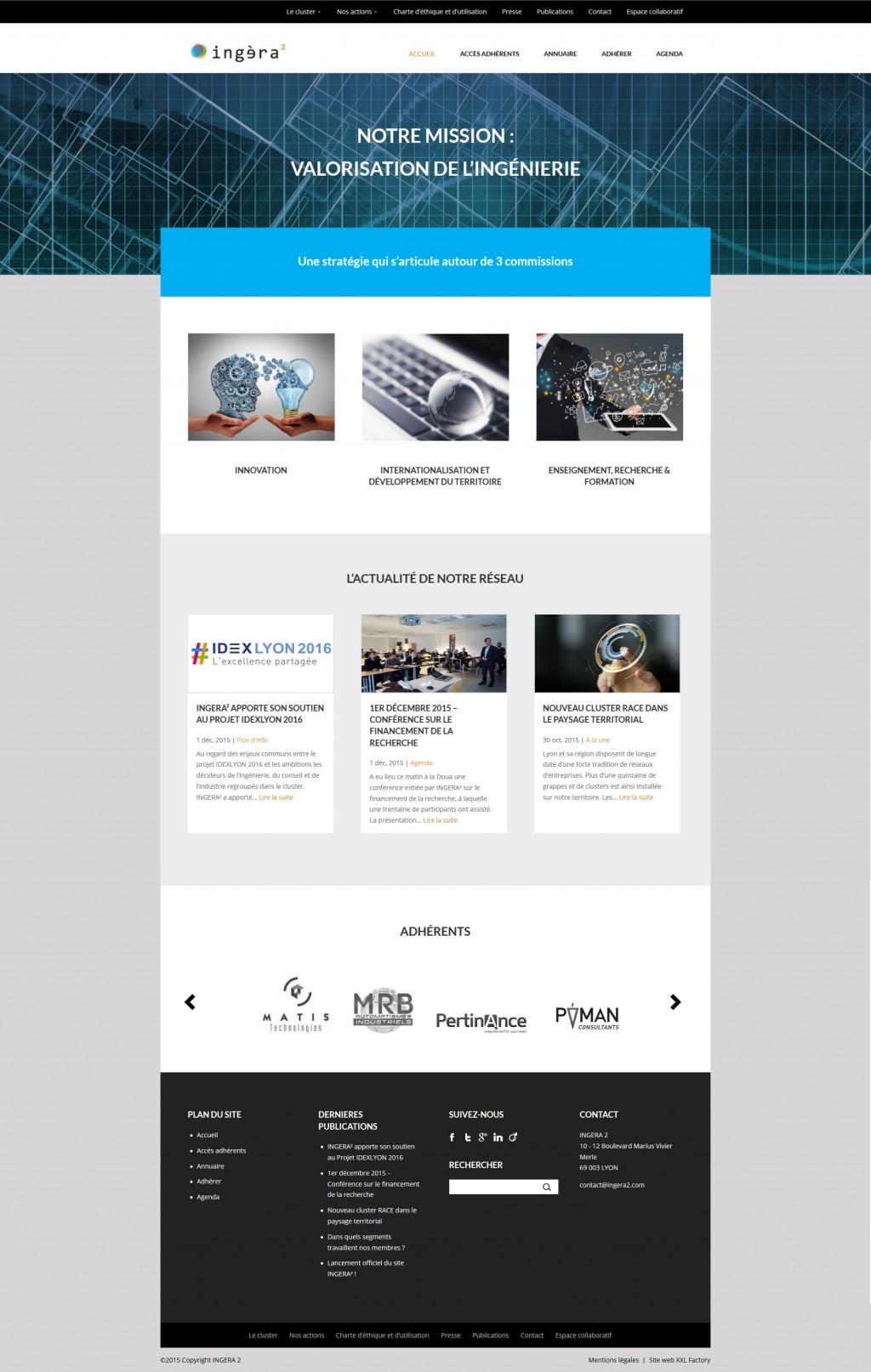 Cluster web design