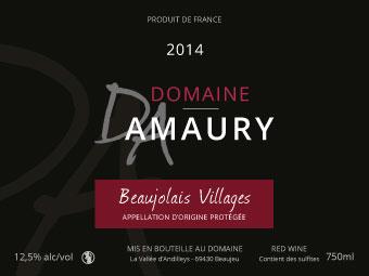 Etiquette Domaine Amaury