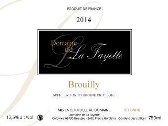 Etiquette Domaine La Fayette