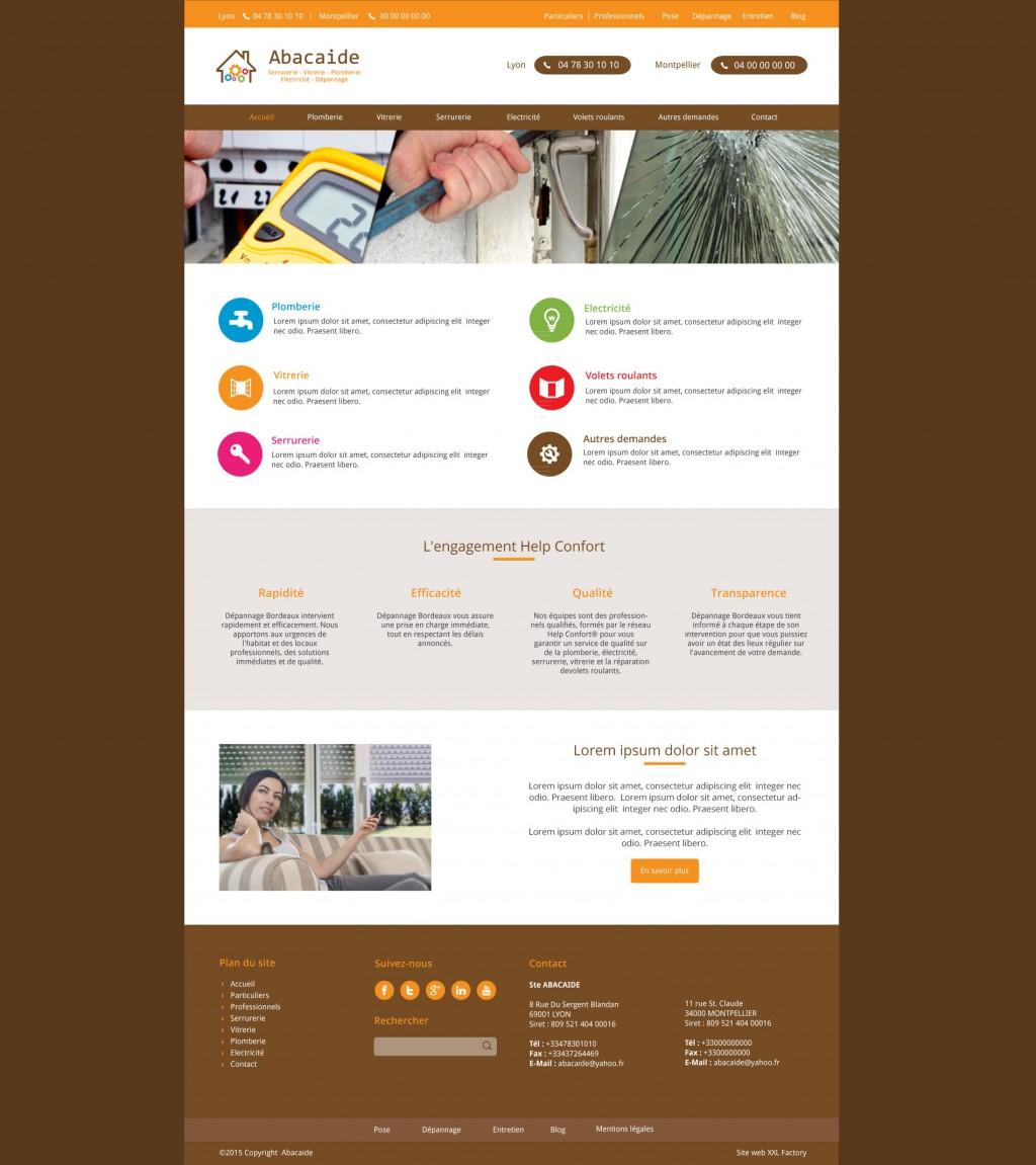 Site web serrurerie