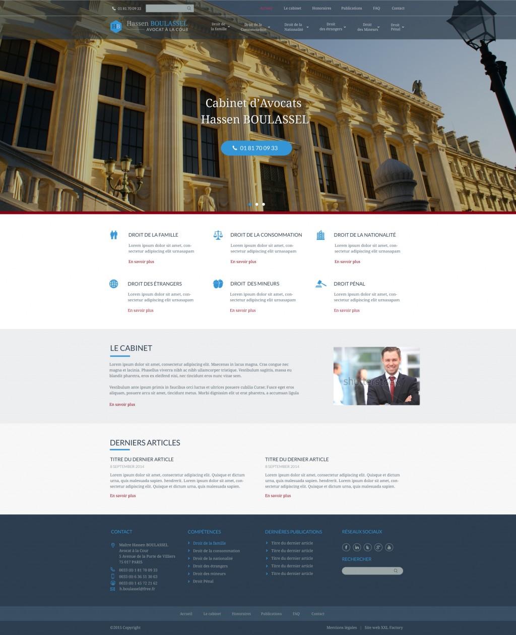 Site web cabinet d'avocats
