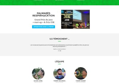 Création site web start-up