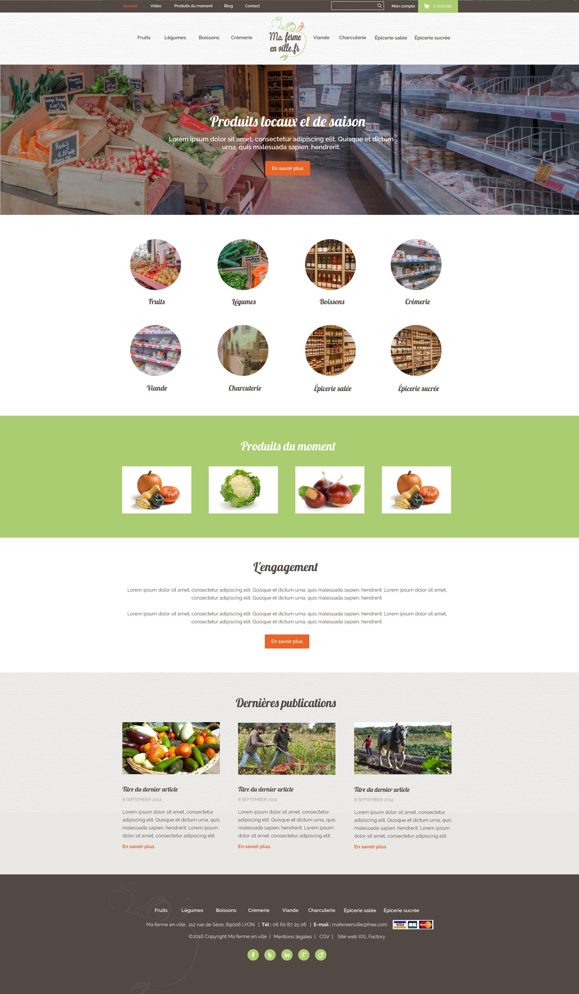 Site internet vente directe de produits locaux