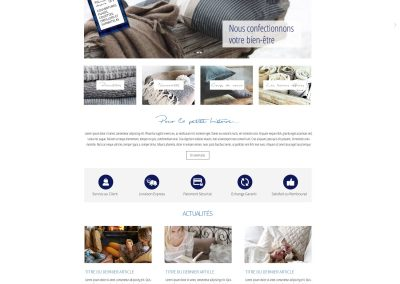 E-commerce website bedding