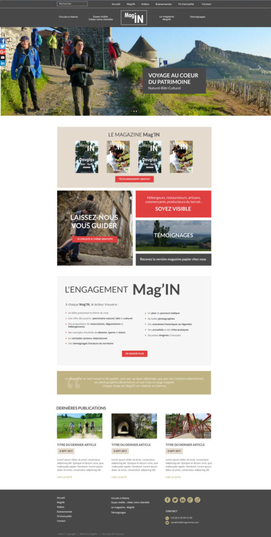 Site web magazine