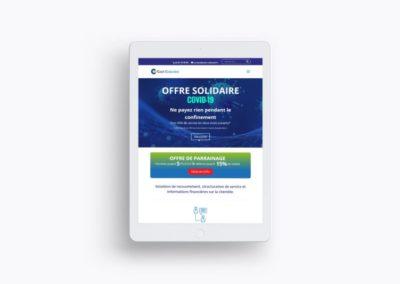 Website cash collected