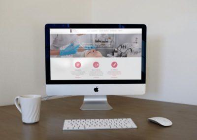 Aesthetic dermatology center website